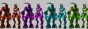 Satyr Females ? by Smirgow