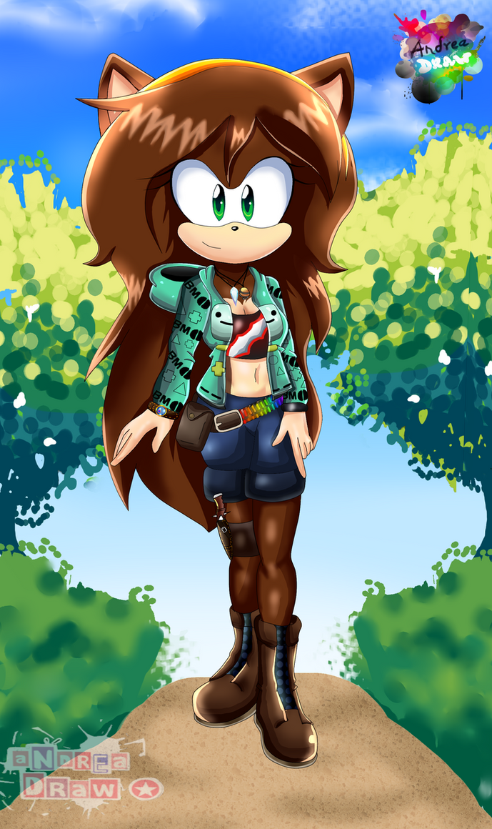 practice Sonic x/ Mobius unleashed (fan character) by andreaplayed12