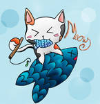 Cat ch Fish? by LuckyCatXD