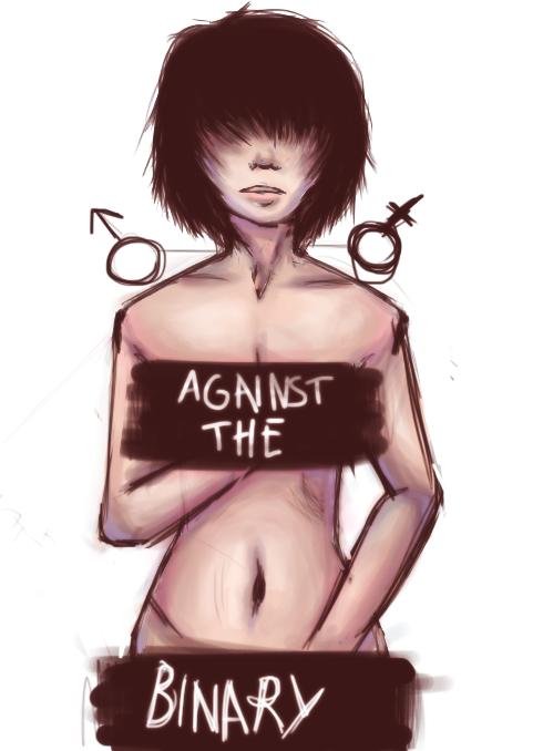 WIP Against the binary by Becca-nin