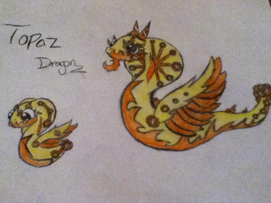My DragonVale Topaz Dragon by Shadowstar146 on DeviantArt