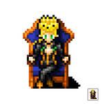 Giorno Giovanna, the boss, Jjba vento aureo- pixel