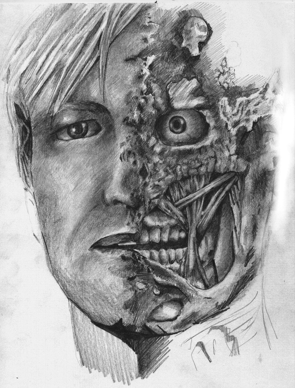 how to draw two face