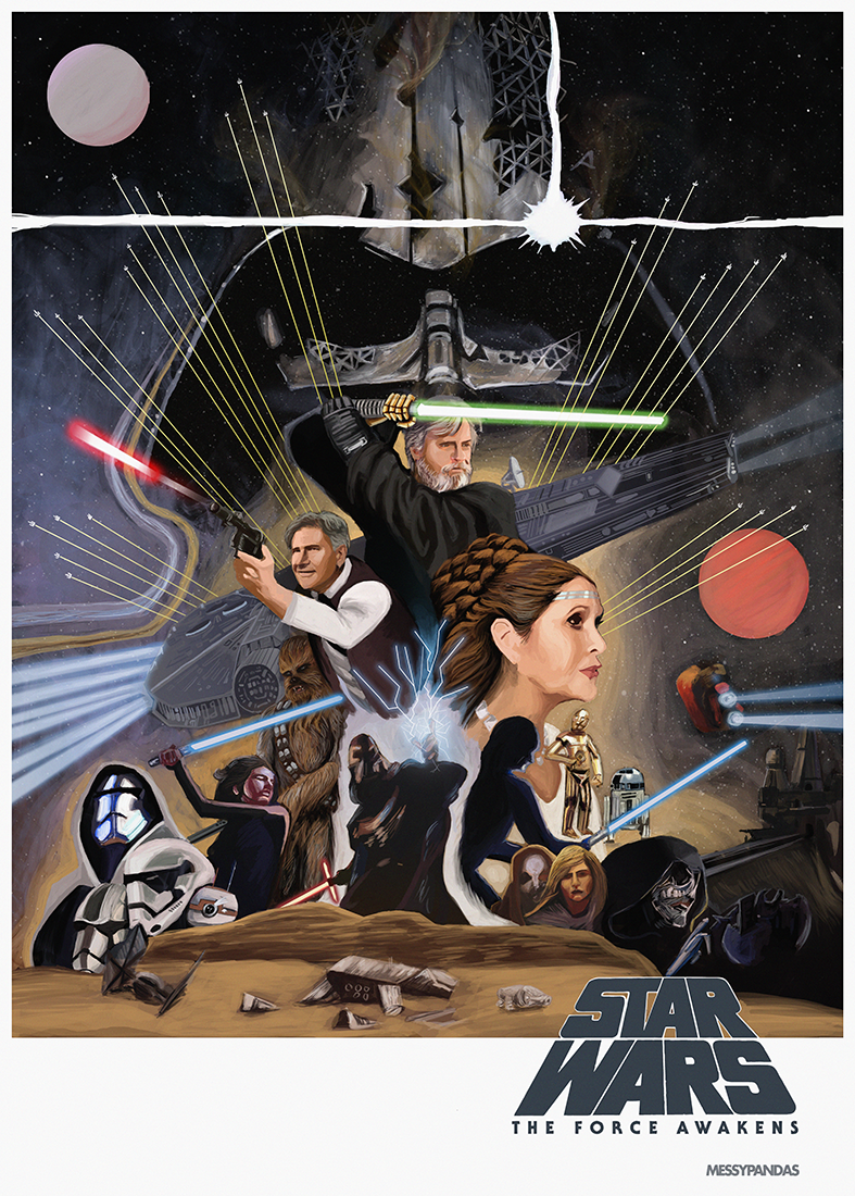Star Wars the Force Awakens Poster with Ammendment by MessyPandas