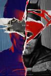 Batman V Superman Torn Poster by MessyPandas