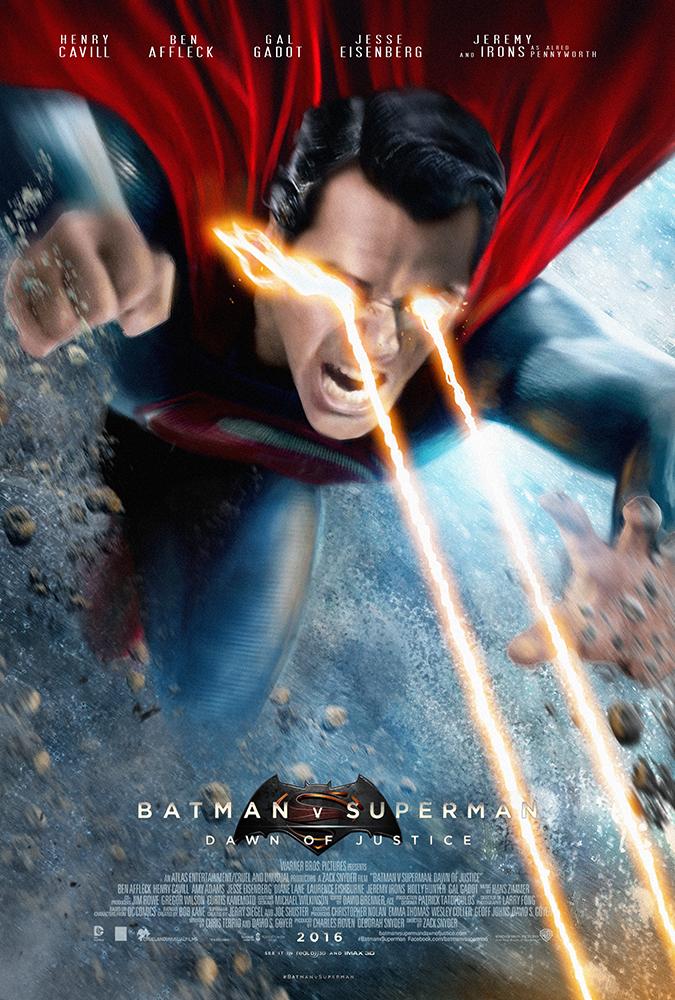 Batman V Superman Poster - Superman by MessyPandas on ...