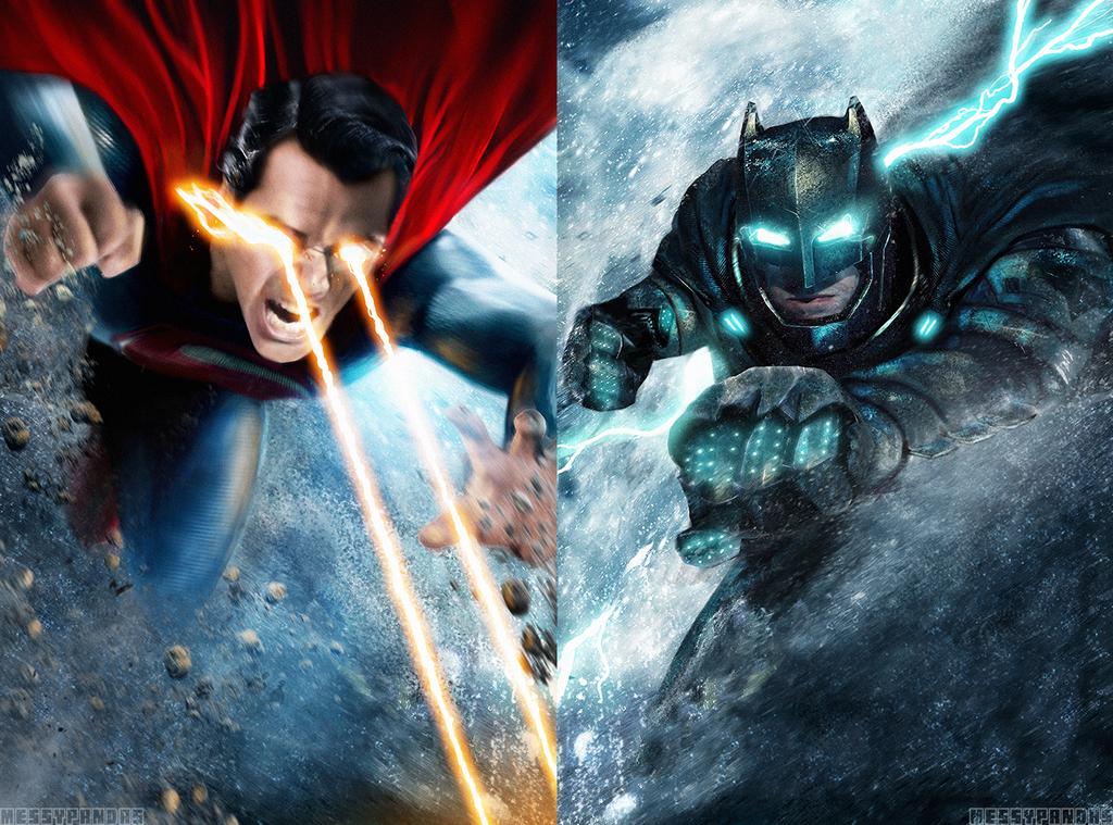Both Batman V Superman posters combined/Desktop