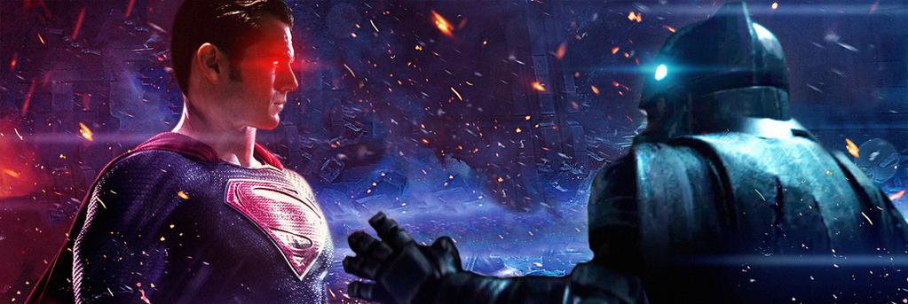 Batman V Superman Stay Down Banner by MessyPandas