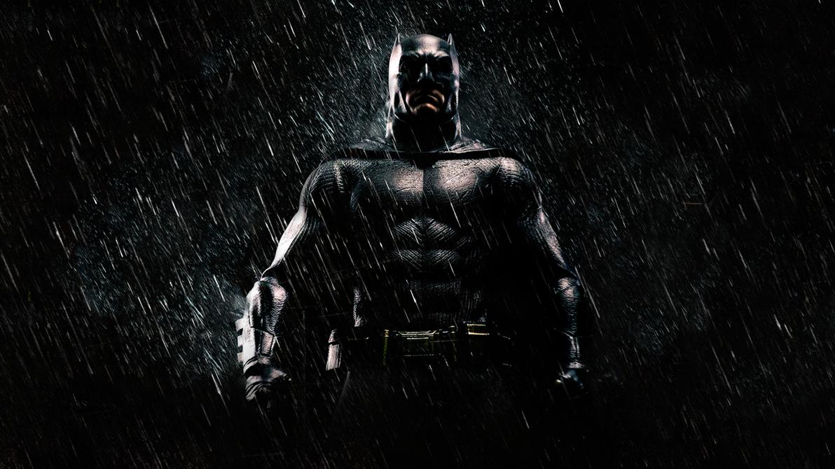 Batman in the rain Wallpaper by MessyPandas