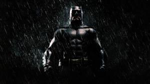 Batman in the rain Wallpaper
