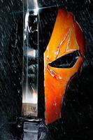 Deathstroke/Batman Poster by MessyPandas