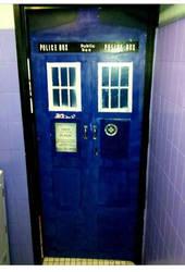 Tardis Toilet Door.