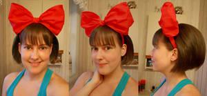 Kiki Bow and Hair WIP