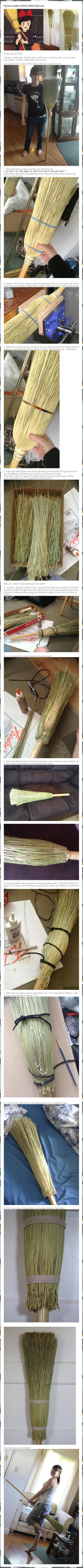 How to make (Kiki's) Witch Broom by RainOwls