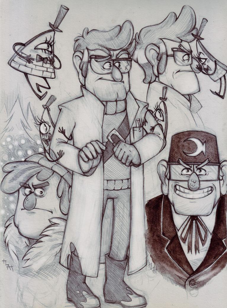 Gravity Falls sketch by Northern-god