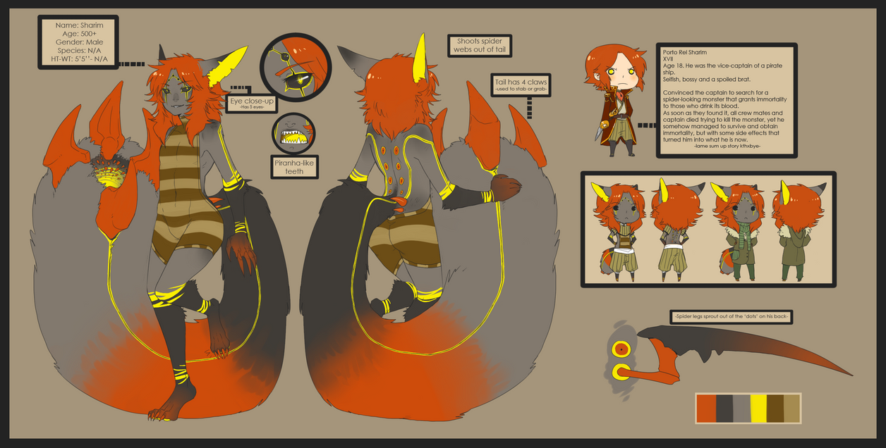 Sharim Ref.Sheet by CookieHana