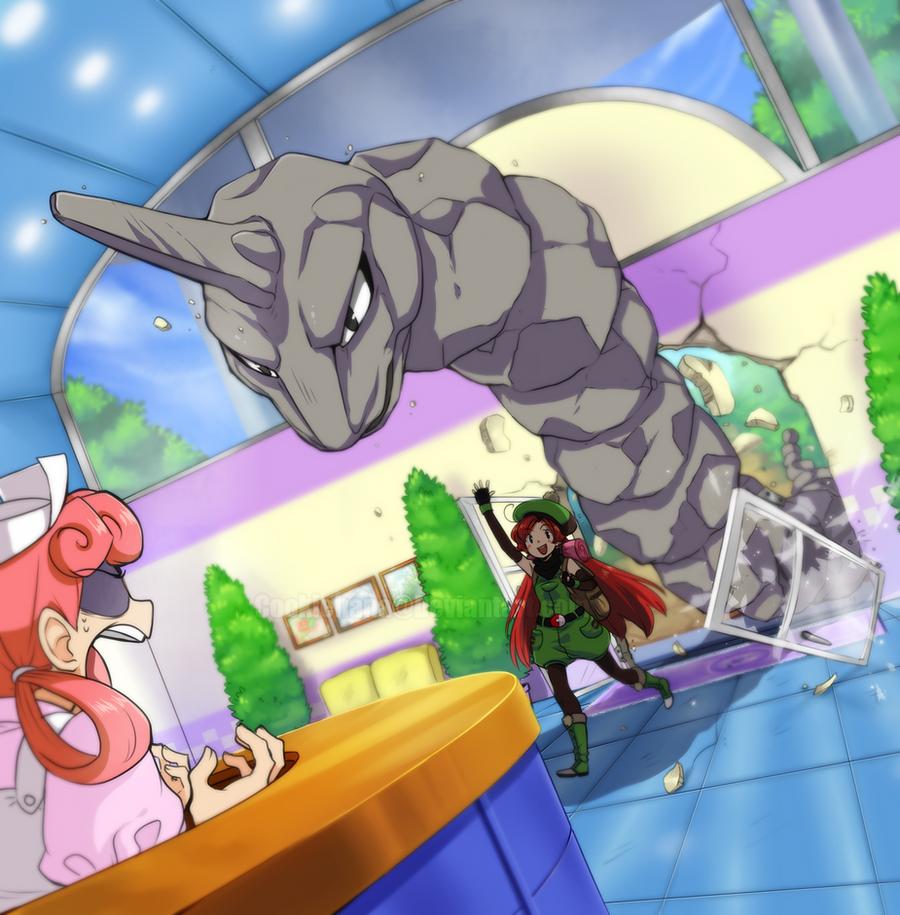 Pokemon Center by CookieHana