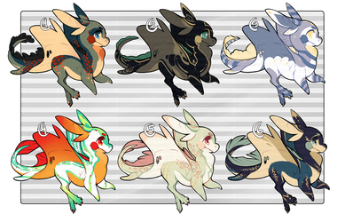 Feral Eeray::batch 01 (ALL SOLD) by CookieHana