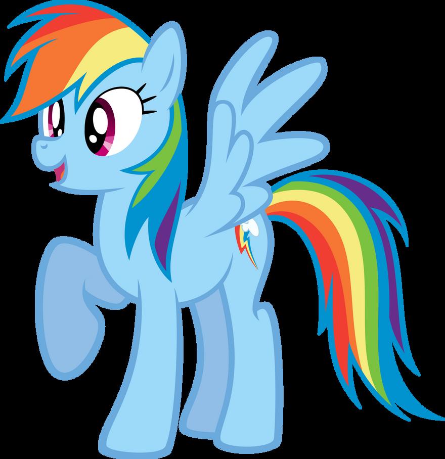 Rainbow Dash is Happy by NewLunaticRepublic