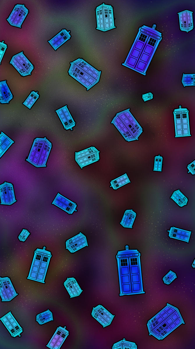 Tardis Pattern 1 by merrypranxter on deviantART