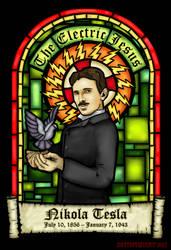 Tesla: The Electric Jesus by merrypranxter