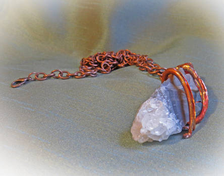 Crystal and Copper Pendant Necklace