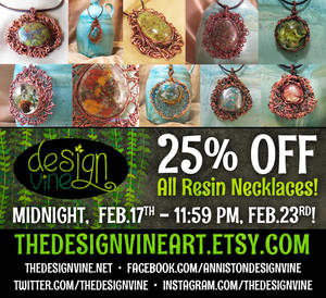 25% OFF all resin pendants this week only!