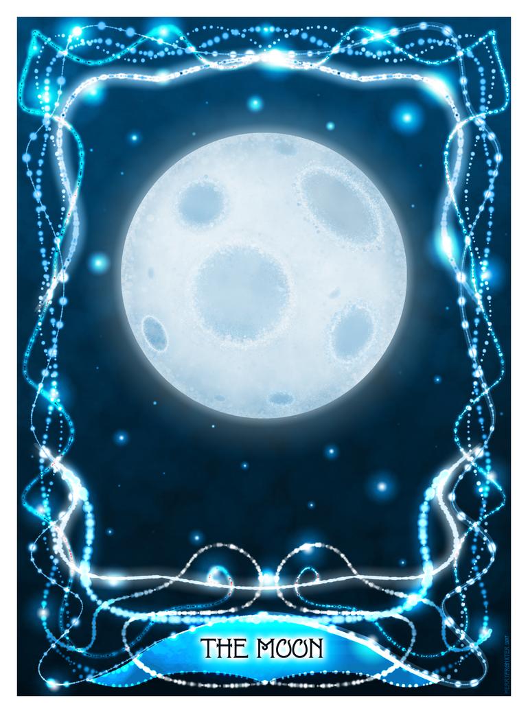 The Moon Tarot Card by merrypranxter