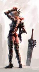 Female Slayer by PabloFernandezArtwrk