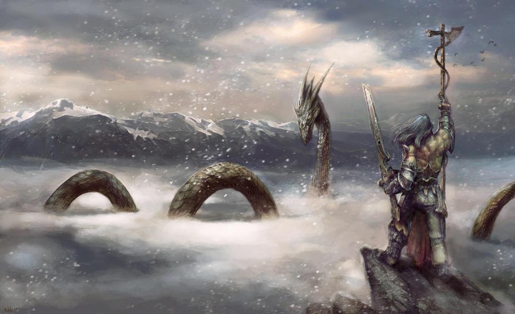 Sky Snake Lord by PabloFernandezArtwrk