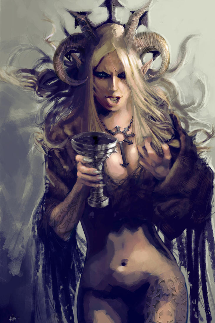 Demon priestess by PabloFernandezArtwrk