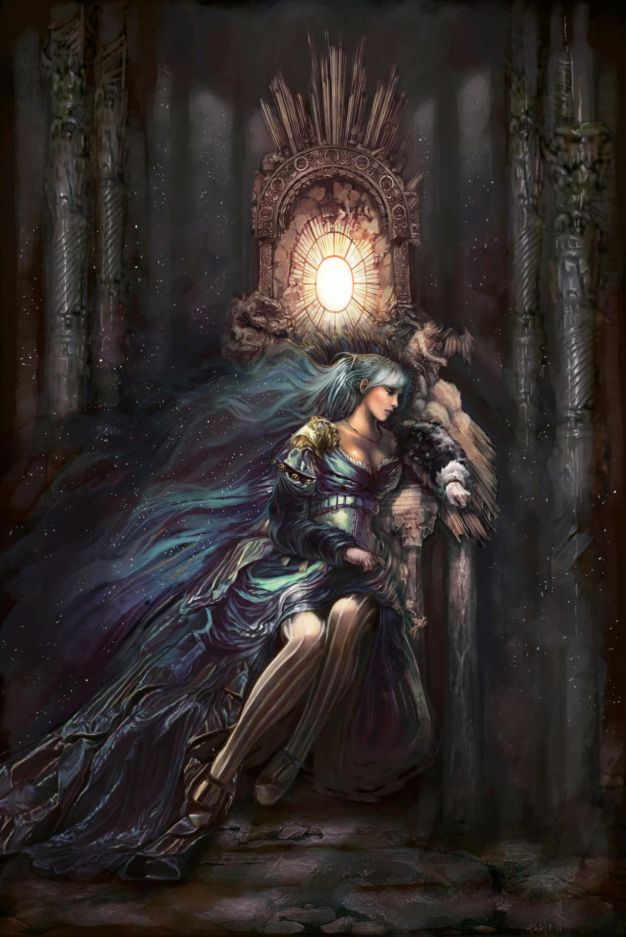 THRONE: Queen of the night by PabloFernandezArtwrk