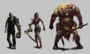 Urban Survivor : Character concepts 1 by PabloFernandezArtwrk