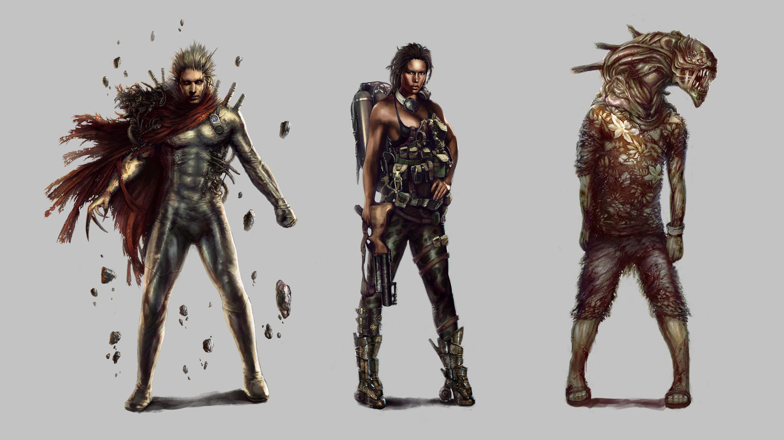 Character Design Concept Artist : Urban survivor character concepts by