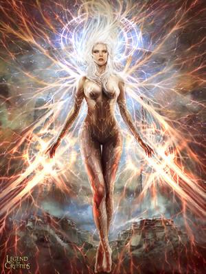 Inmortal Goddess of Victory (advanced version) by PabloFernandezArtwrk