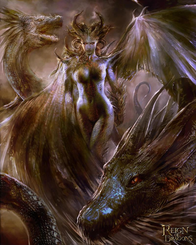 Dragon Queen version 01 by PabloFernandezArtwrk