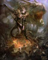 Dragon Queen version 03 by PabloFernandezArtwrk