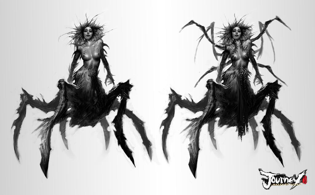 Spider Queen concept 01 by TheBastardSon
