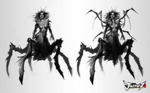 Spider Queen concept 01 by PabloFernandezArtwrk