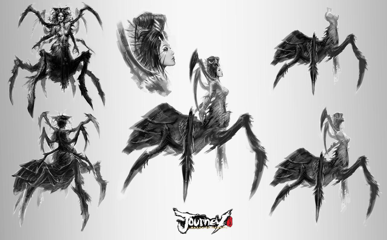 Spider Queen concept 02 by TheBastardSon
