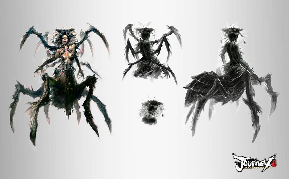 Spider Queen concept 03 by PabloFernandezArtwrk