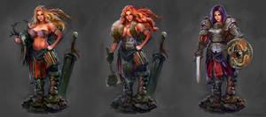 Barbarian-warrior concept art