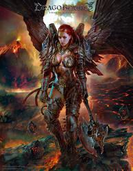 Angel of Destruction - Dragoborne by PabloFernandezArtwrk