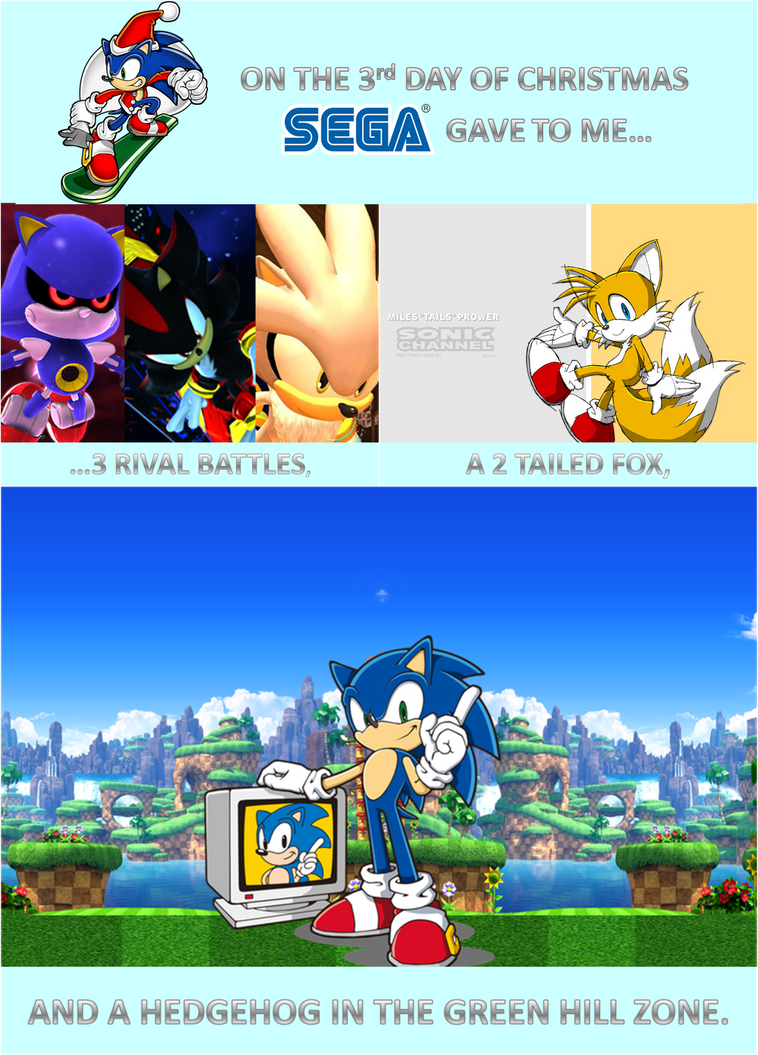 sonic 12 days of christmas day 3 by sonicspider21 - Sonic Hours Christmas Day