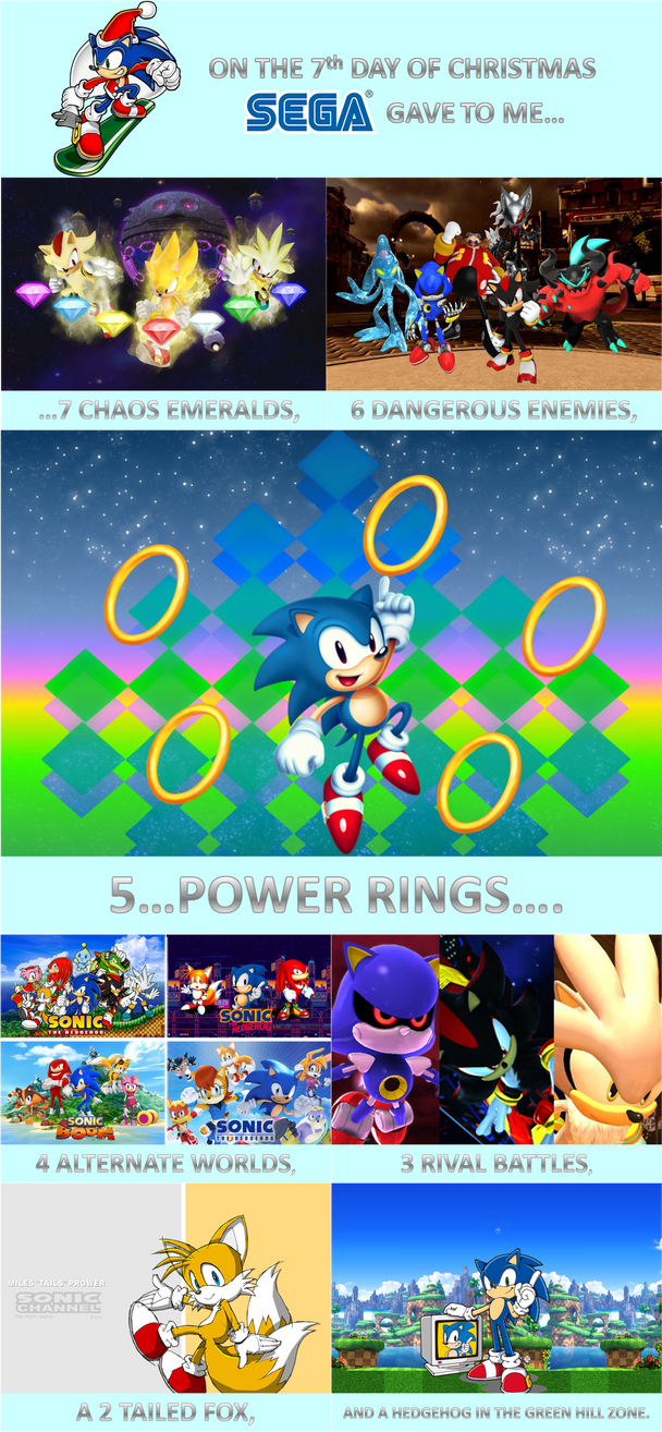 sonic 12 days of christmas day 7 by sonicspider21 - Sonic Hours Christmas Day