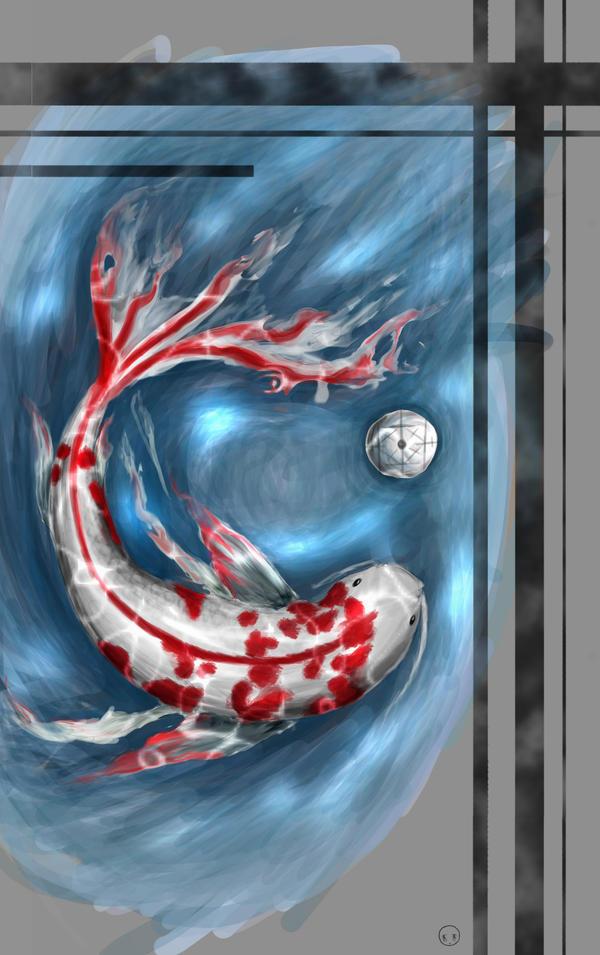 Koi Fish iPhone Background
