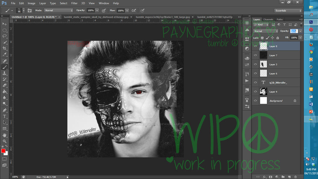 SkullVampire Harry Styles by Vampire Harry Styles