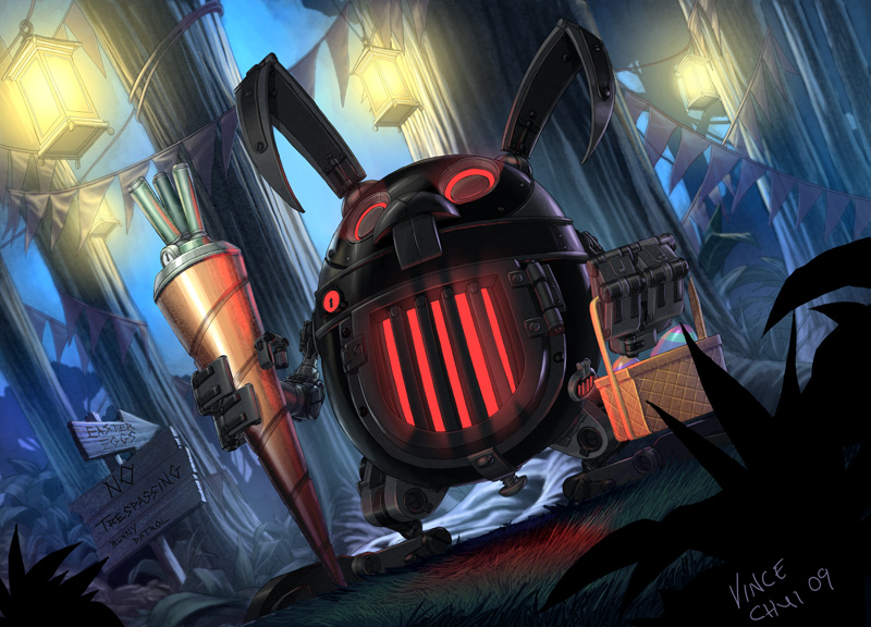 Evil Easter Bunny by kidchuckle