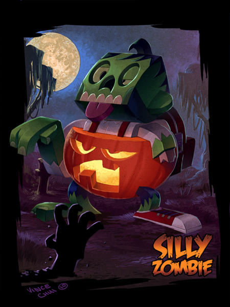 Silly Zombie Pumpkin Pants by kidchuckle