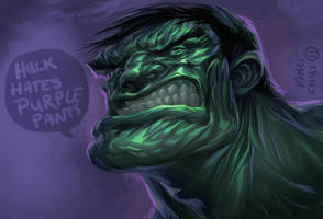 hulk hates Purple Pants Col by kidchuckle